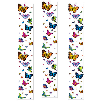 Colorful Butterfly Party Panels hanging decorations