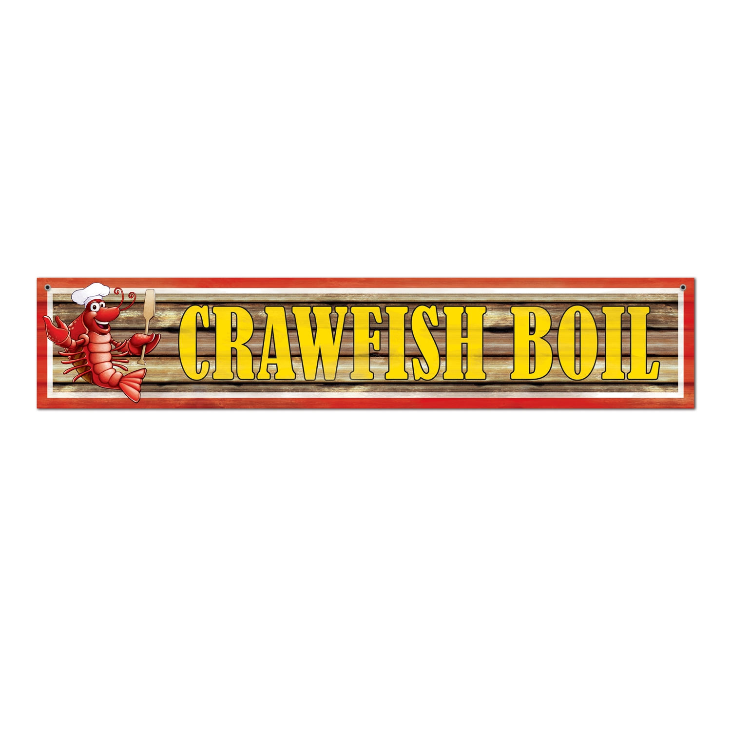 Crawfish Boil Banner (Pack of 12) Crawfish Boil Banner, decoration, banner, mardi gras, wholesale, inexpensive, bulk