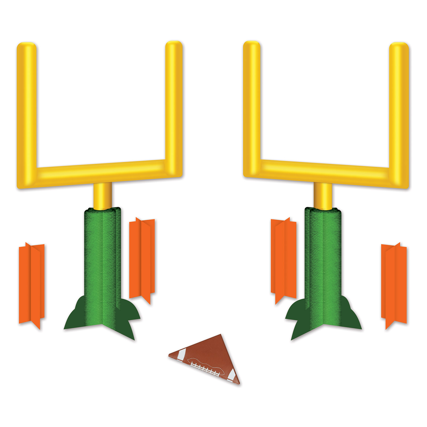 3-D Football Goal Post Centerpieces (Pack of 12) 3-D Football Goal Post, Football Centerpieces, Game Day Decor, Inexpensive centerpieces, Wholesale party supplies, Goal Post