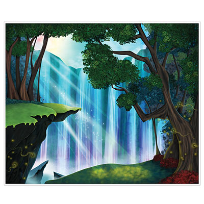Fantasy Insta-Mural printed on thin plastic material with a beautiful scenery.
