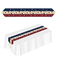 Printed Americana Table Runner (Pack of 12) Picnic, table, table runner, patriotic, american, flag