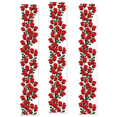 Roses Party Panels with a clear background and lots of gorgeous roses.