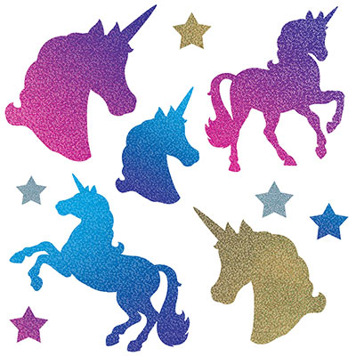 Unicorn Cutouts (Pack of 120) Unicorn Cutouts, decoration, birthday, fairy tale, inexpensive, bulk, wholesale