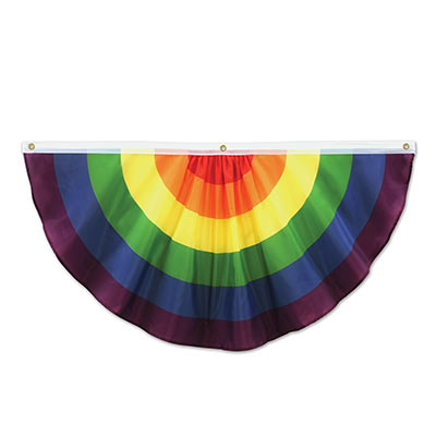 Rainbow Fabric Bunting is fabric material with the bright rainbow colors.