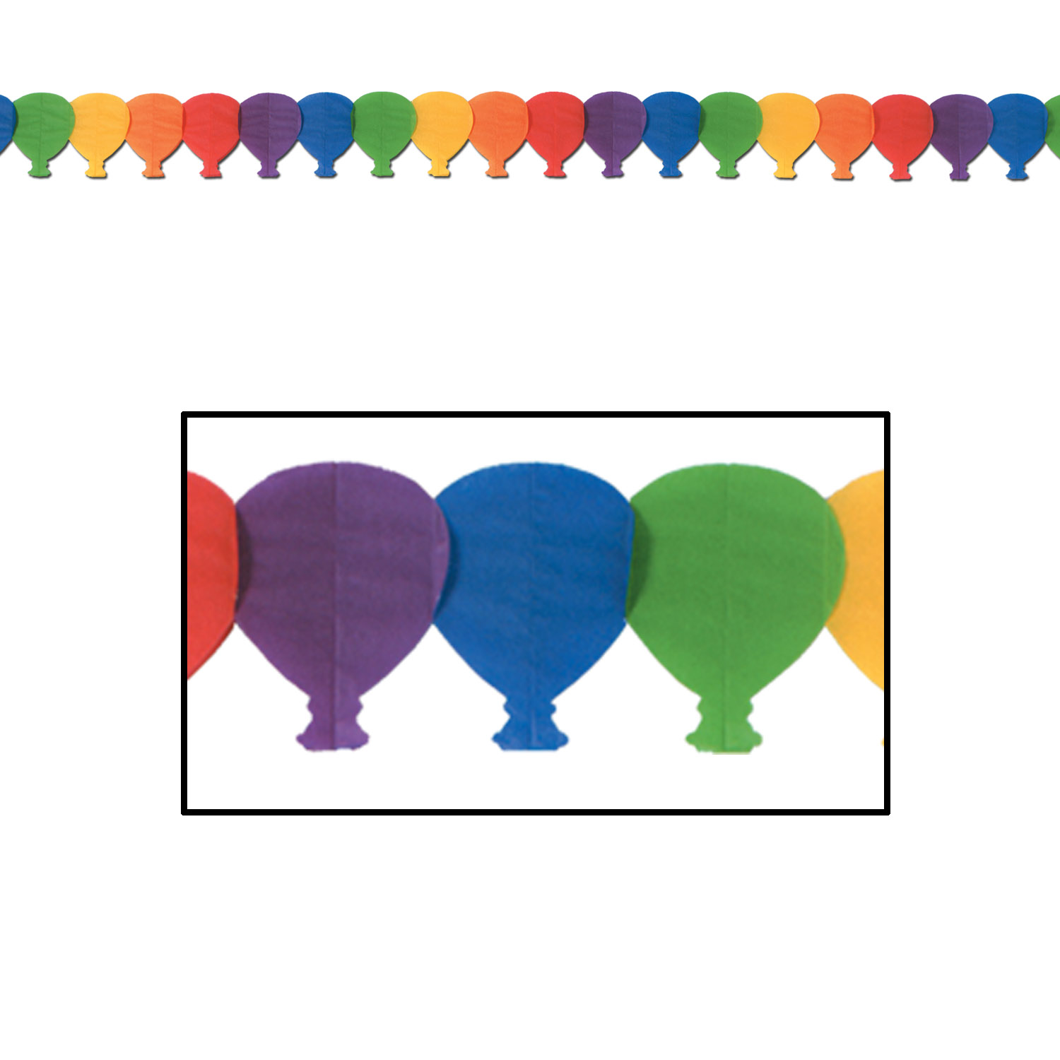 Balloon Garland (12 per pack) Garland, rainbow, tissue, balloons, happy birthday