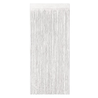 Gleam 'N Curtain made of white metallic strands.