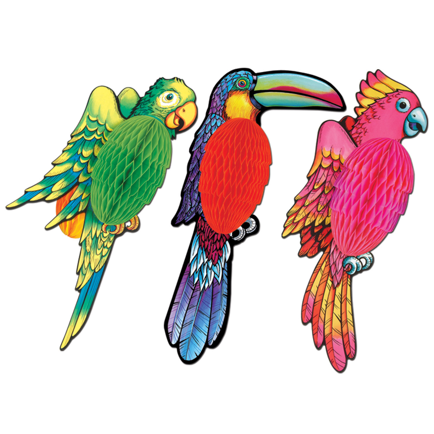 Tissue Exotic Birds (Pack of 12) tropical, luau,tissue, birds, exotic, hawaiian, animals