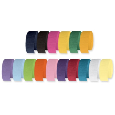 Festive Crepe Streamer (Pack of 12) - SELECT A COLOR
