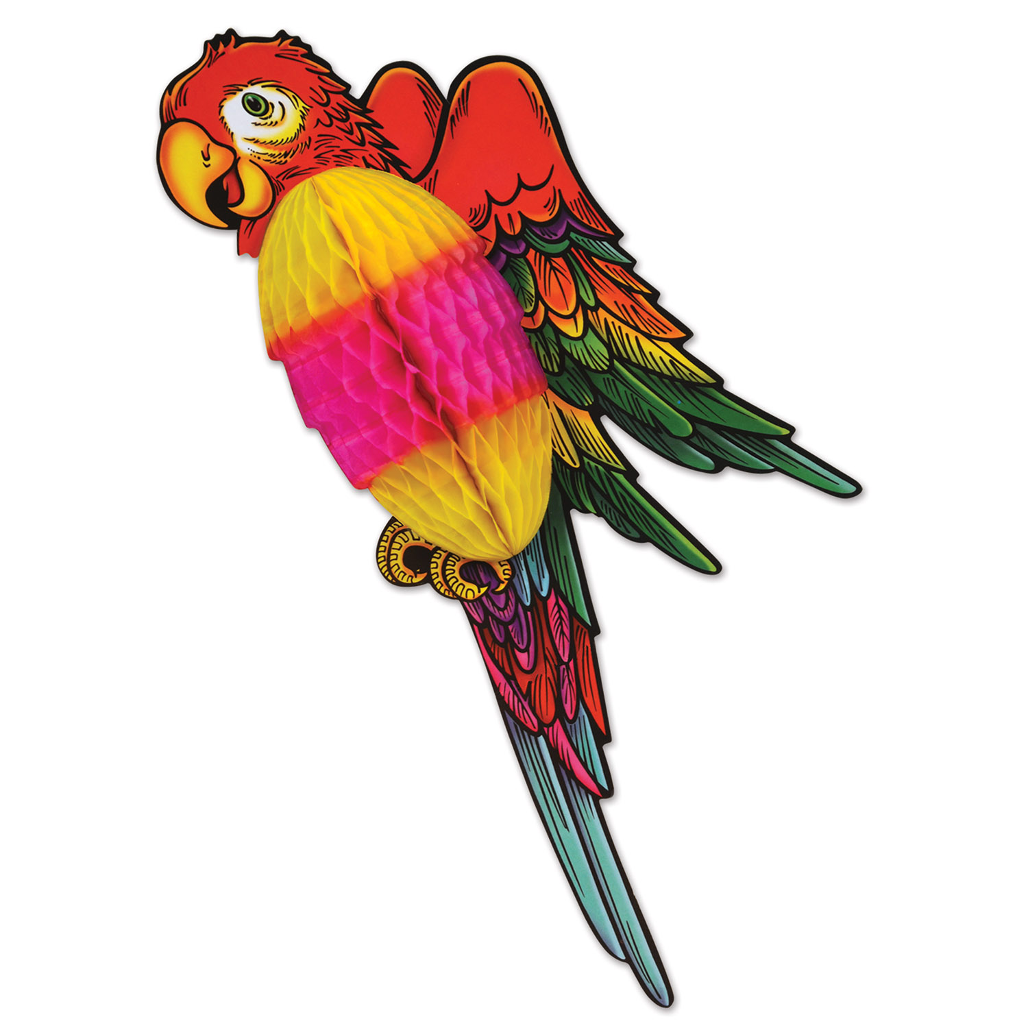 Tissue Parrot (Pack of 12) Tissue Parrot, decoraiton, wholesale, inexpensive, bulk, luau, new years eve