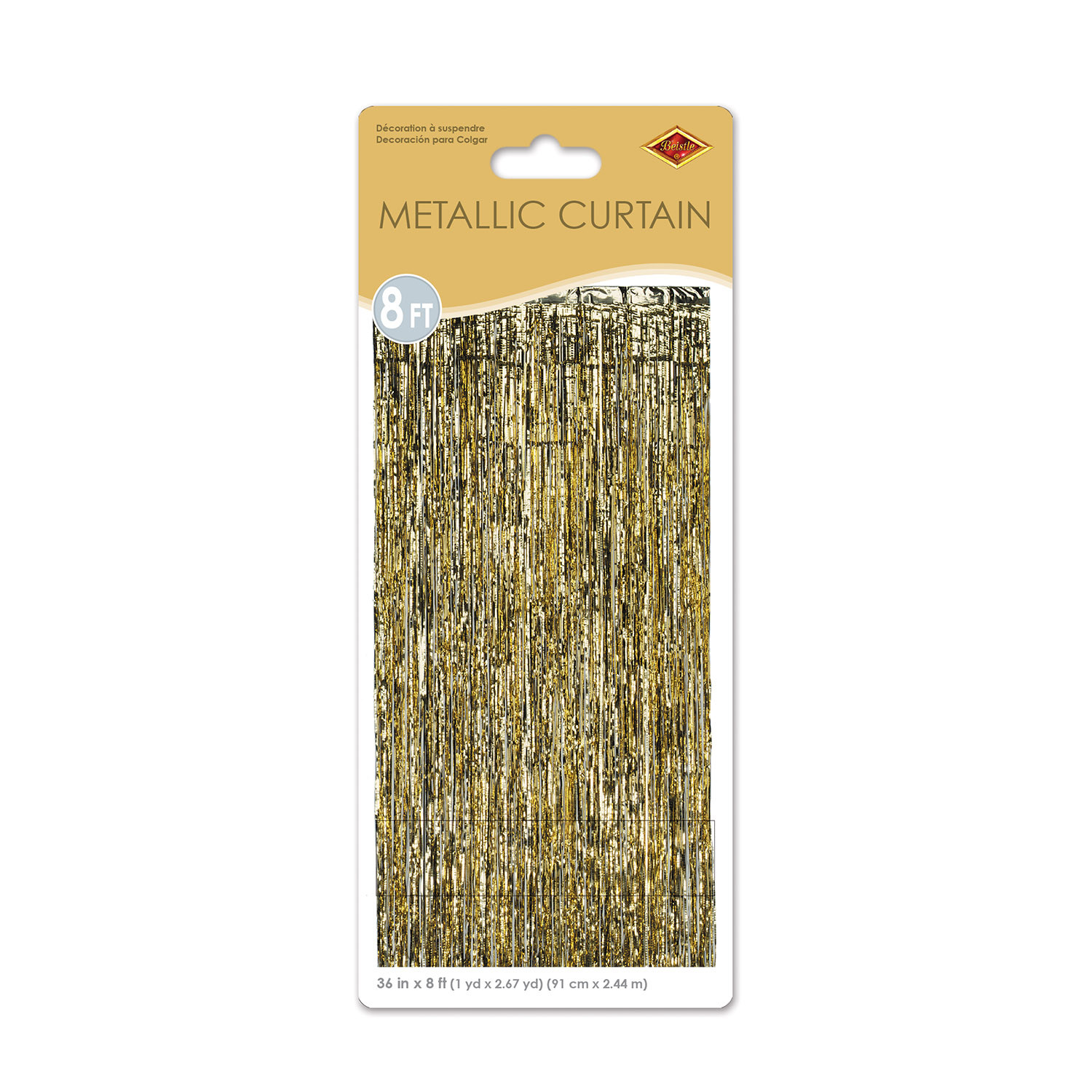 1-Ply Gold Gleam N Curtain (Pack of 6) Door Decorations, New Years Eve, photo booth, bulk, party, gold, party supplies