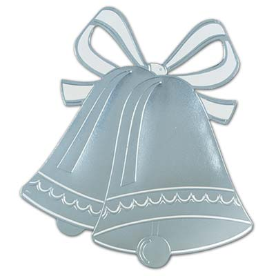 Foil Wedding Bell Silhouette wall decoration