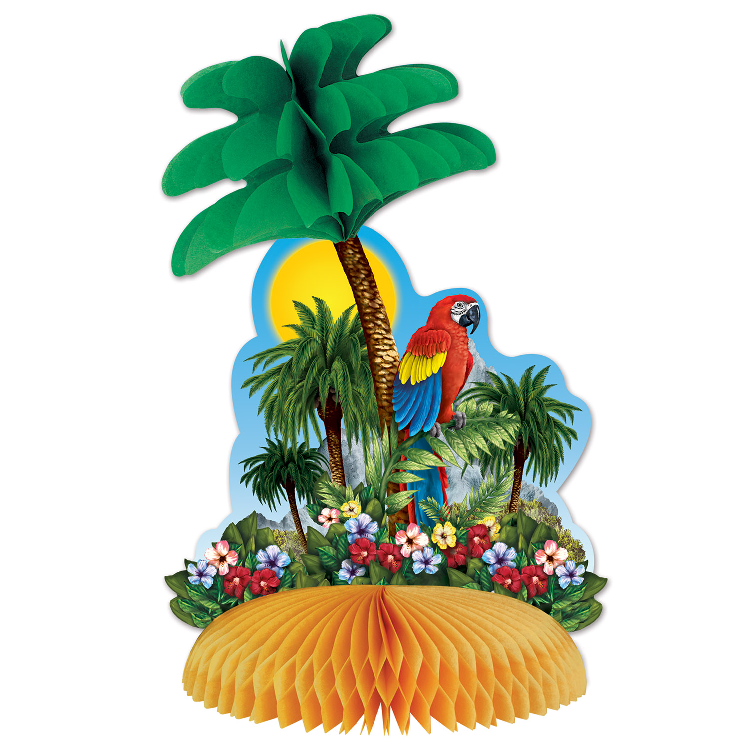 Tropical Island Centerpiece (Pack of 12) Tropical Island Centerpiece, decoration, luau, new years eve, wholesale, inexpensive, bulk