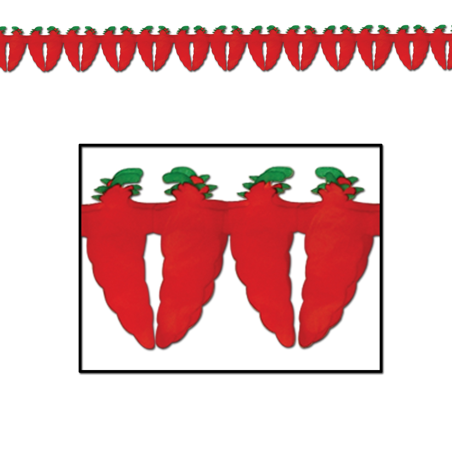 Chili Pepper Garland (Pack of 12) Chili, pepper, garland, red hot, spicy,  fiesta, meixican, international, cinco de mayo