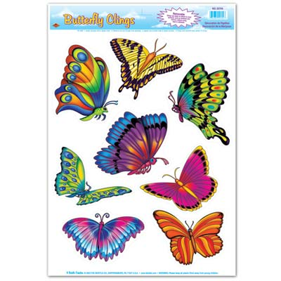 Bright Colored Assorted Butterfly Clings