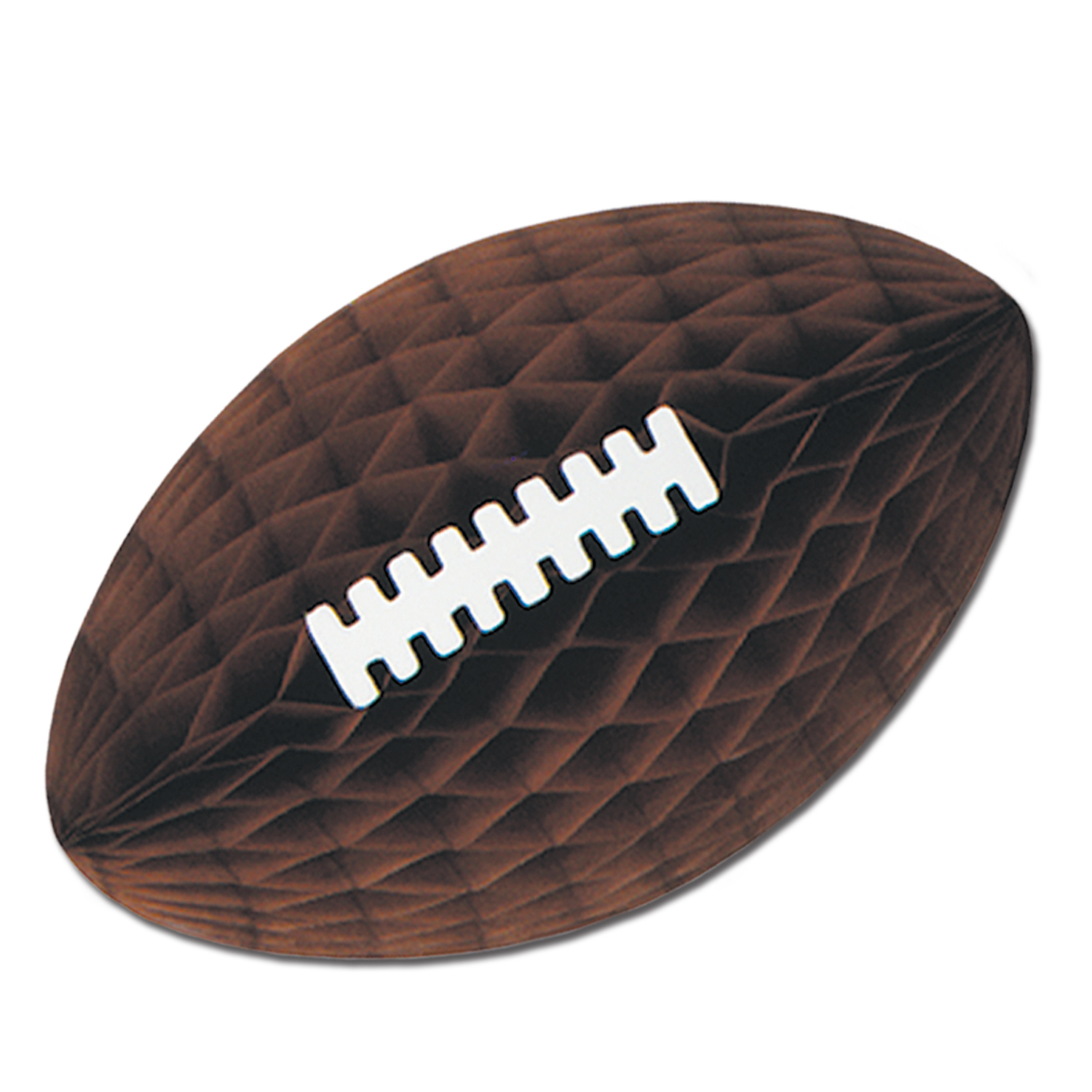 "28"" Tissue Football w/Laces (Pack of 6) Tissue Football with Laces, football, decoration, brown, wholesale, inexpensive, bulk"