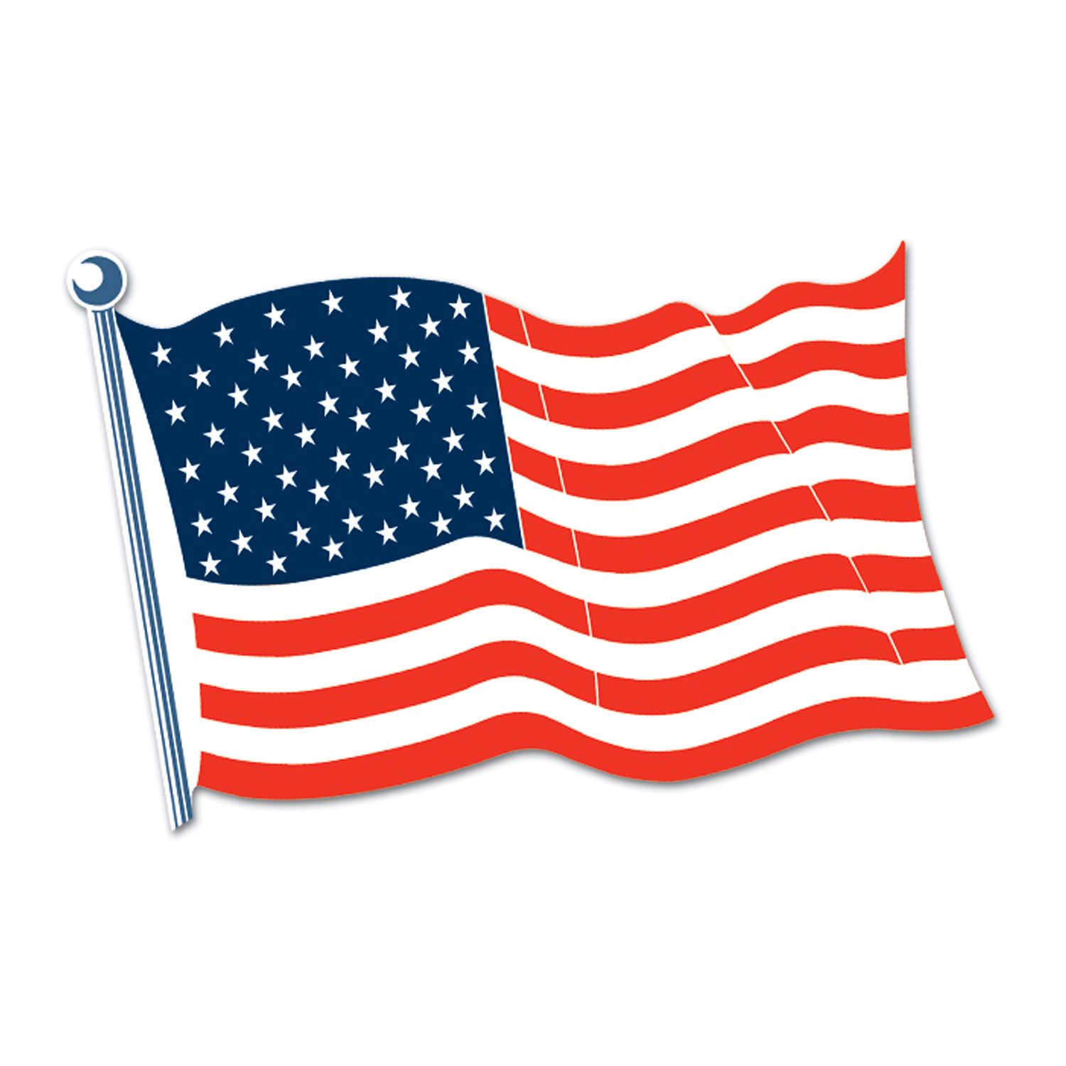 American Flag Cutout (Pack of 24) .