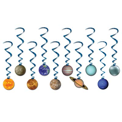 Solar System Whirls (Pack of 60) Solar System Whirls, solar system, whirls, decoration, classroom, science, planets, wholesale, inexpensive, bulk