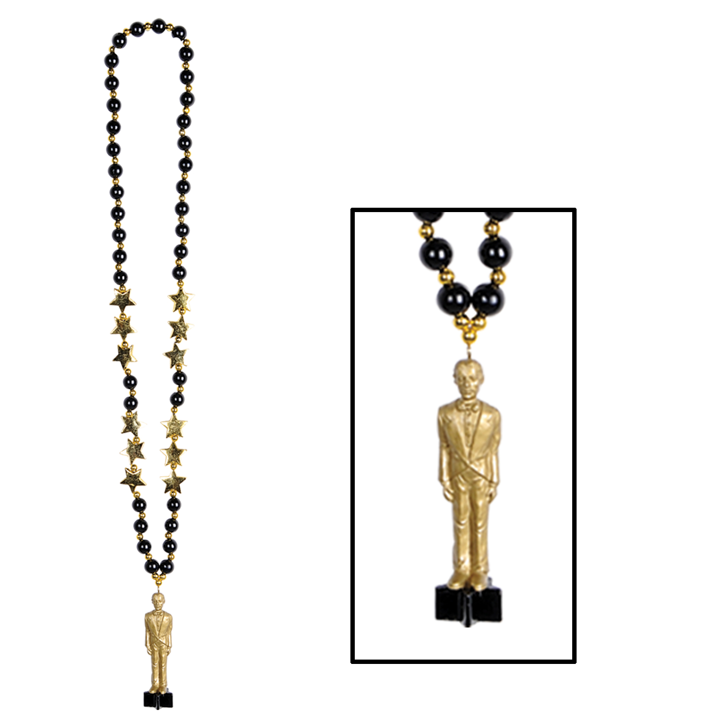 Beads w/Awards Night Statuette (Pack of 12) beads, party, awards night, Hollywood, statuette