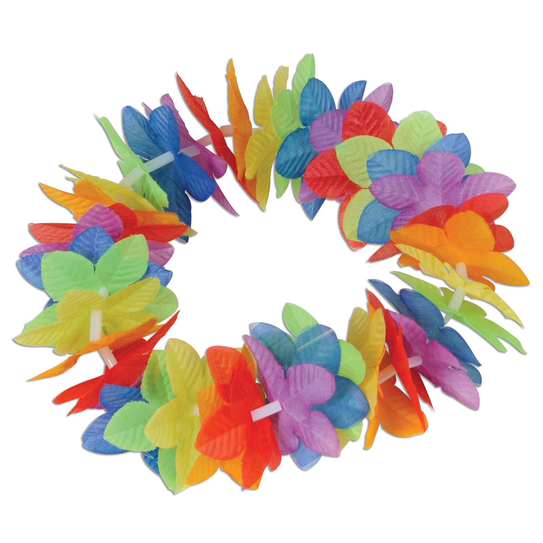Wholesale hawaiian party leis wristbands page 3 silk n petals rainbow floral headband pack of 12 floral rainbow headband izmirmasajfo