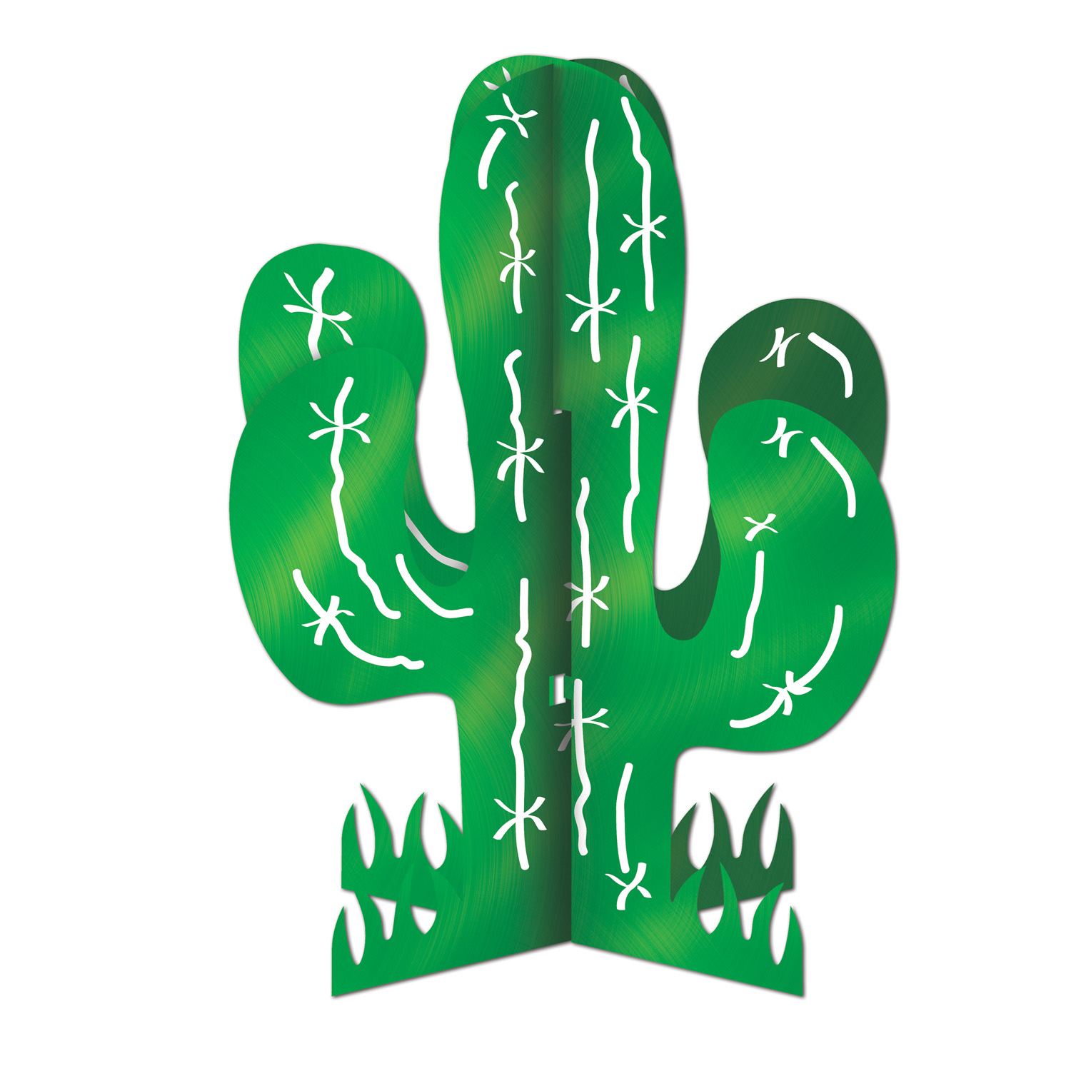 3-D Cactus Centerpiece (Pack of 12) 3-D Cactus Centerpiece, centerpiece, cactus, decoration, wholesale, inexpensive, bulk