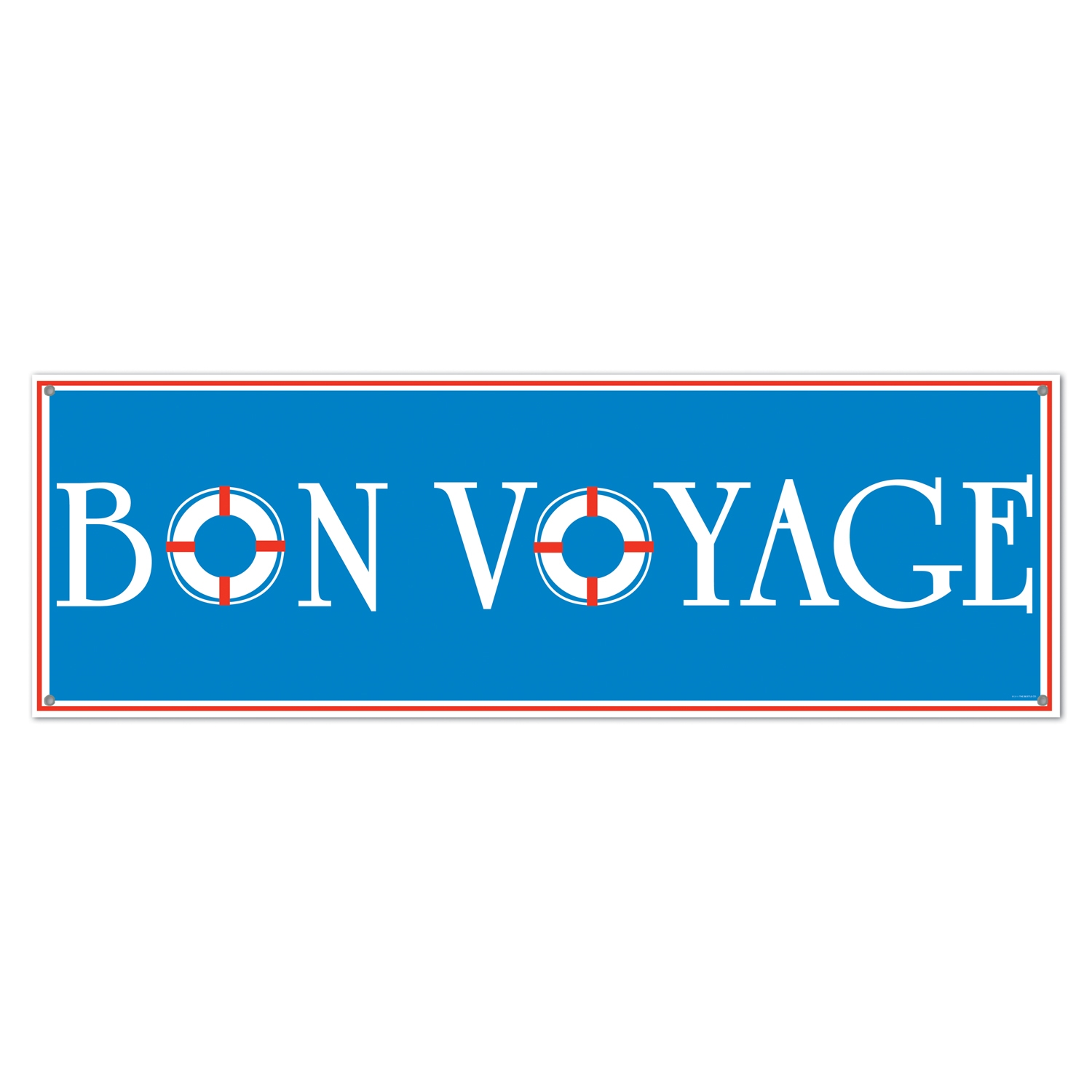 Bon Voyage Sign Banner (Pack of 12) Nautical, luau, beach, ocean, seas, sailing, ships, bon voyage, sign, banner