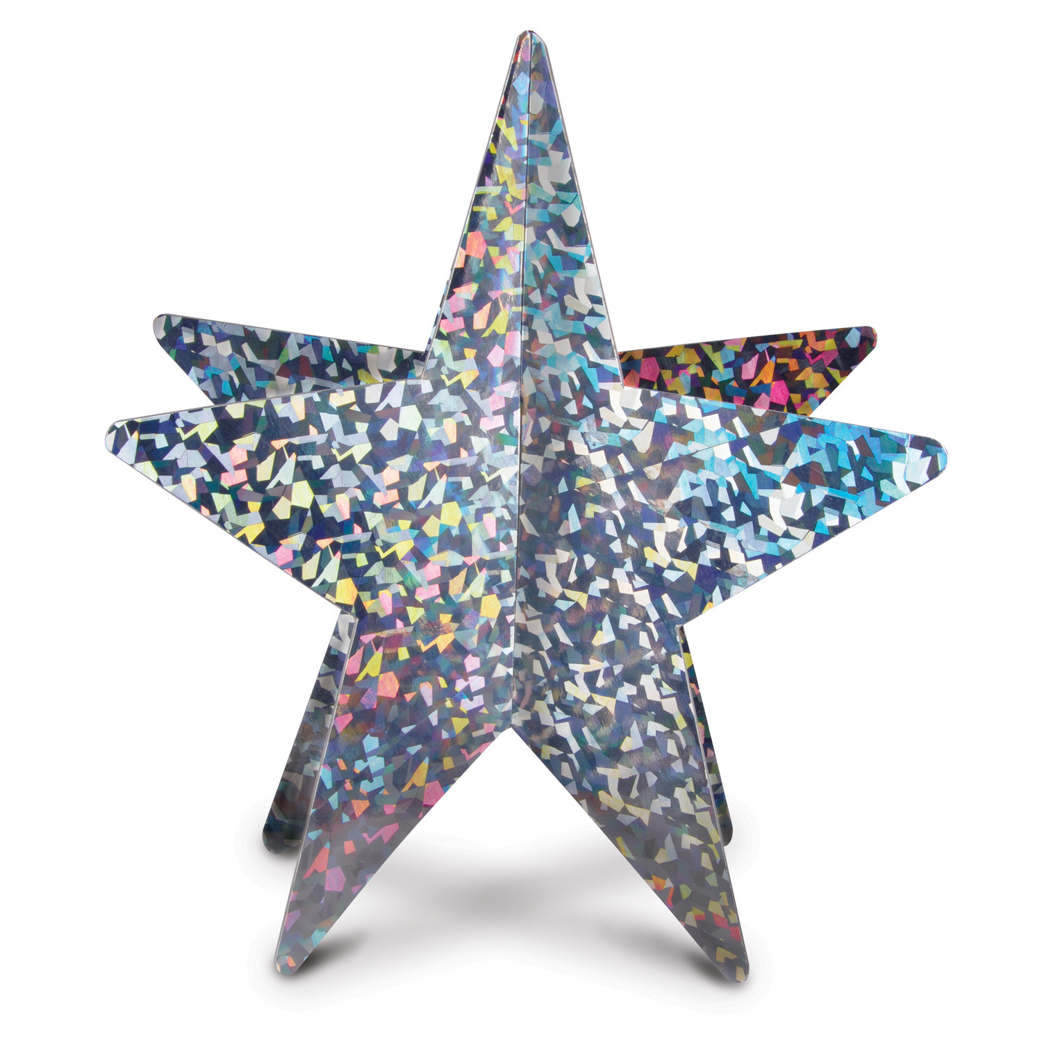 3-D Prismatic Star Centerpiece (Pack of 12) 3-D Prismatic Star Centerpiece, decoration, centerpiece, new years eve, wholesale, inexpensive, bulk