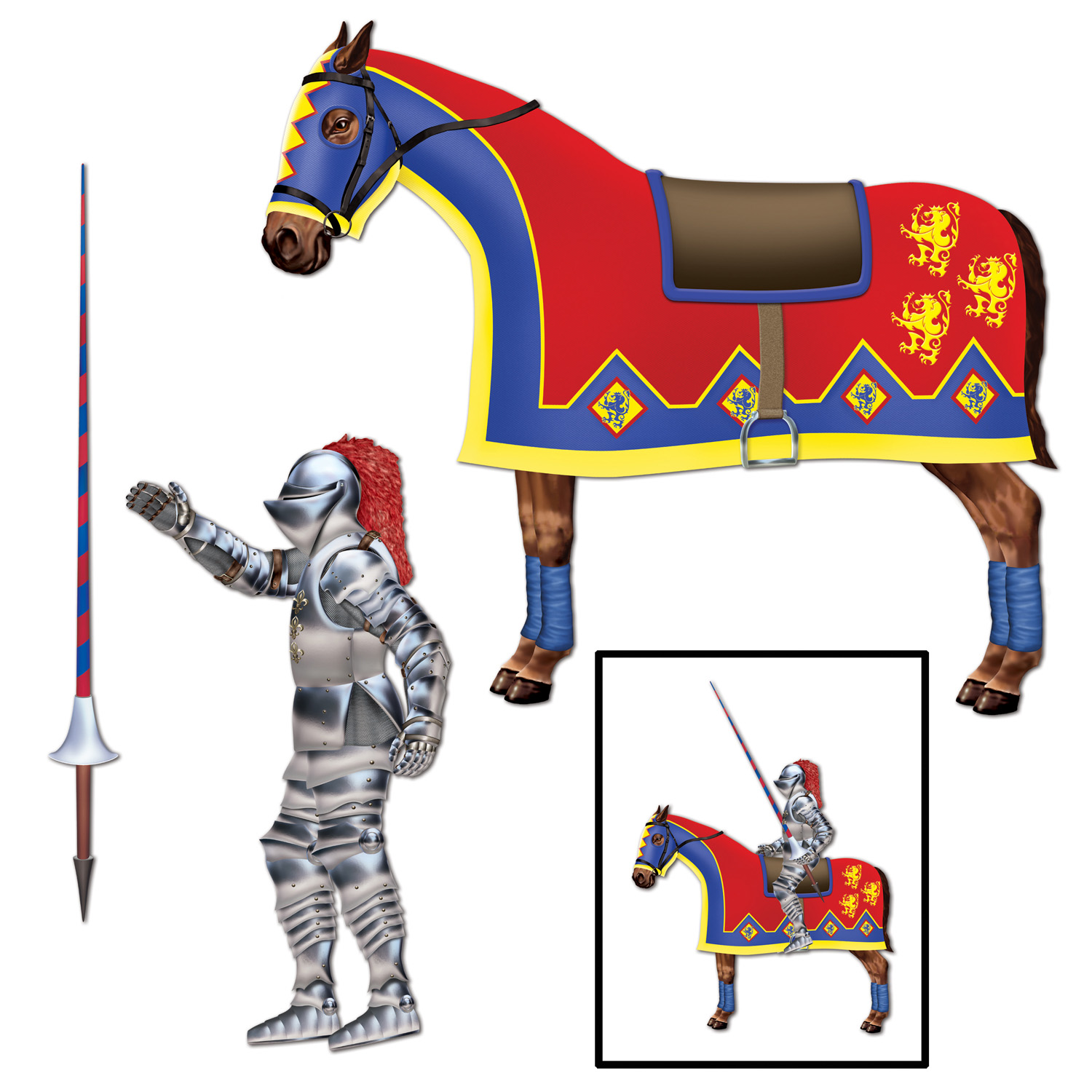 Jointed Jouster (Pack of 12) Jointed Jouster, decoration, medieval, new years eve, halloween, wholesale, inexpensive, bulk