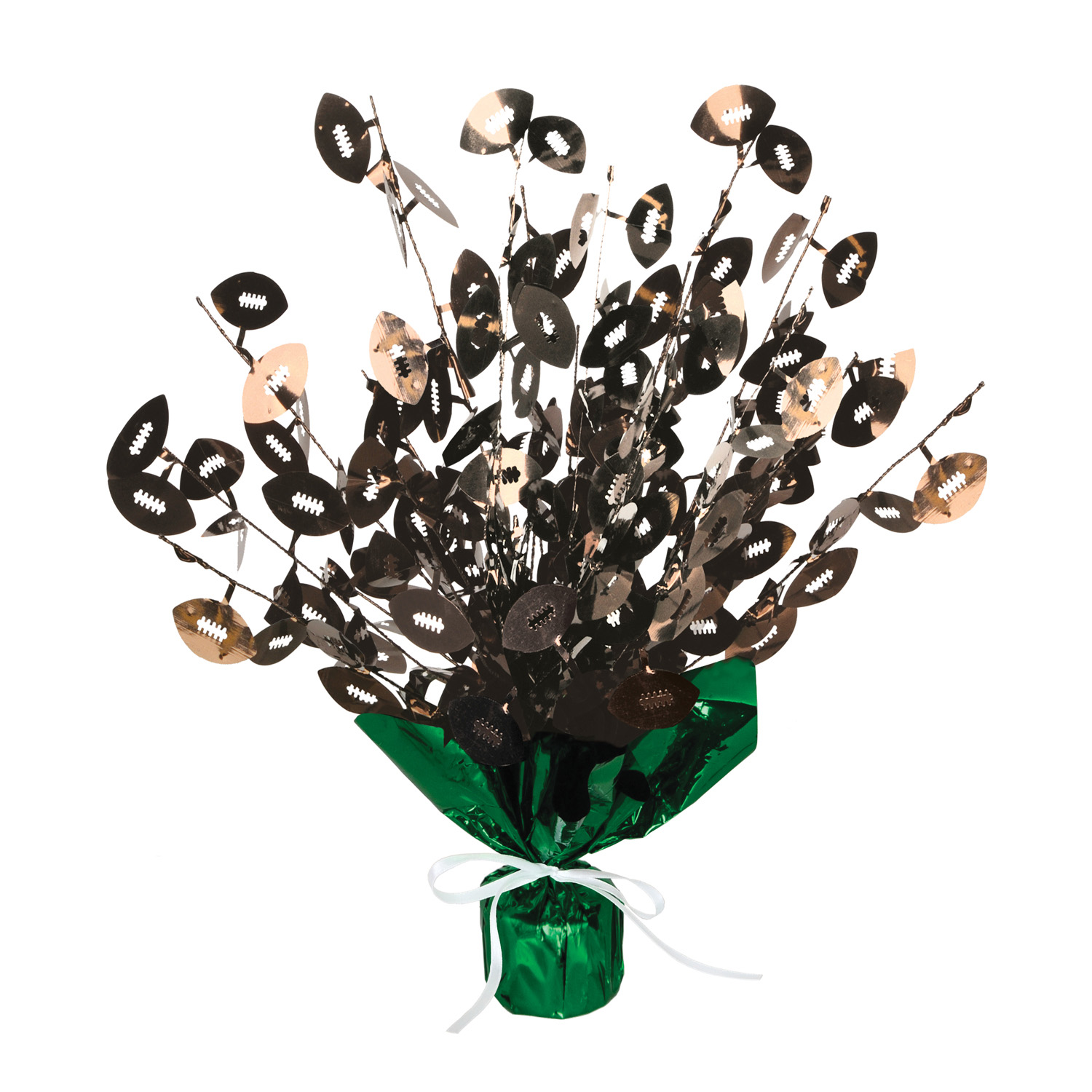 Football Gleam N Burst Centerpiece (Pack of 12) Cheap Centerpiece, Football centerpiece, Football Decor, Cheap Football supplies, Game Day, Table Centerpieces, Wholesale decorations, Cheap party goods, Tissue Centerpieces, Inexpensive party