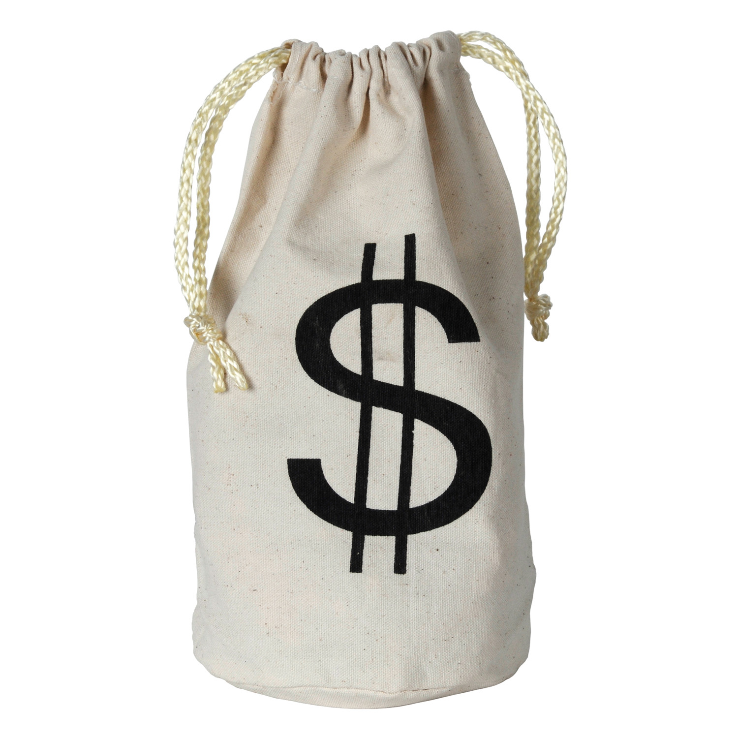 """$"" Bag (Pack of 12) $, bag, money, canvas, casino, wild, west, theme, cowboy, poker, gambling, chips, cards, Las Vegas, party, night, event, costume, prize, favor"