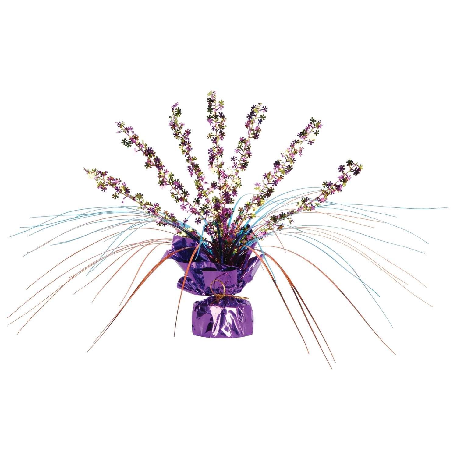 Retro Flowers Gleam N Spray Centerpiece (Pack of 12) Retro Flowers Gleam N Spray Centerpiece, decoration, centerpiece, 60s, 1960s, new years eve, halloween, wholesale, inexpensive, bulk