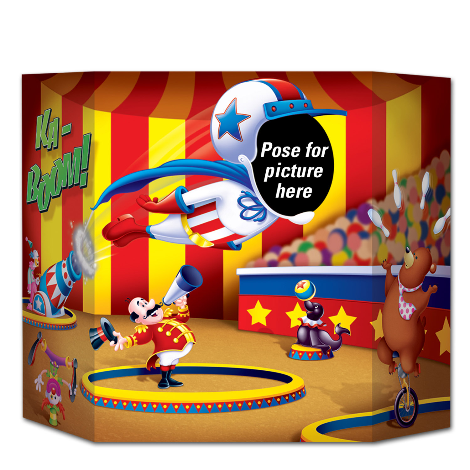 Circus Photo Prop (Pack of 6) Circus Photo Prop, decoration, photo, circus, new years eve, wholesale, inexpensive, bulk