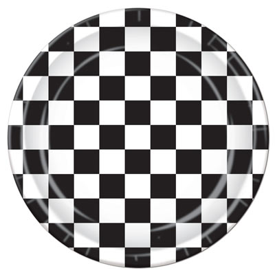 Checkered Plates for a race day themed party