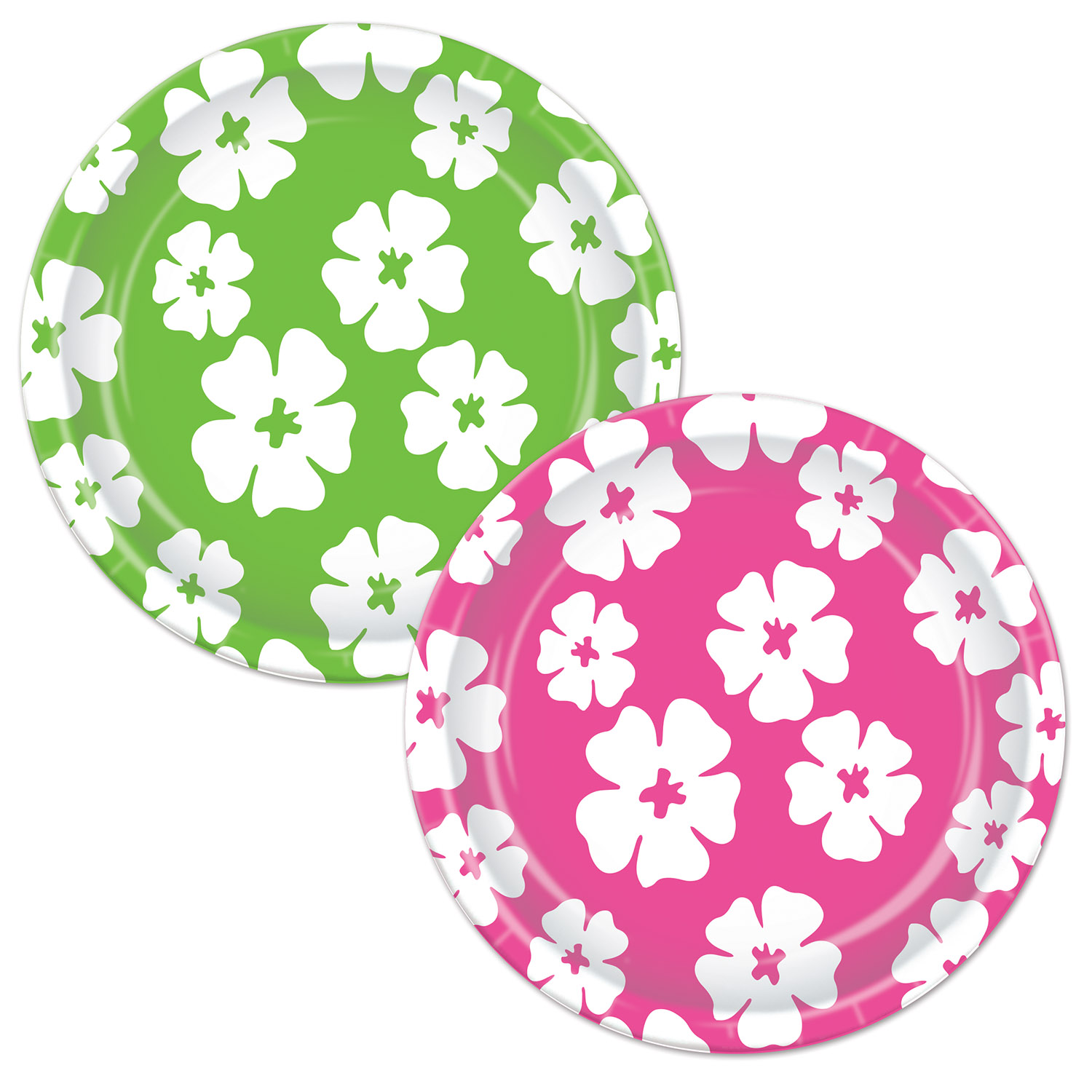 Hibiscus Plates (Pack of 96) luau, tropical, hibiscus, flower, plates, tableware, hawaiian