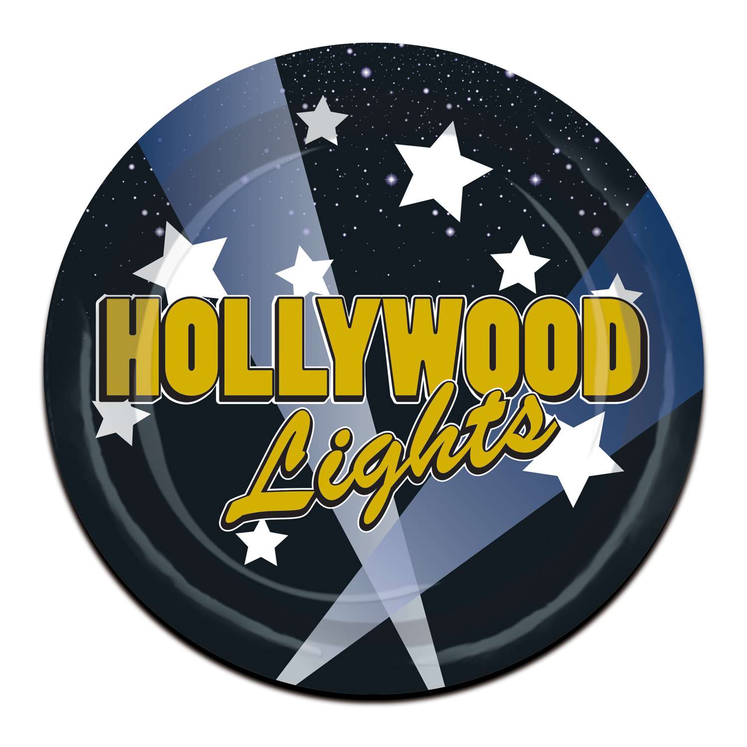 Hollywood Lights Plates (Pack of 96) Hollywood Lights Plates, food, desert, plates, hollywood, new years eve, wholesale, inexpensive, bulk