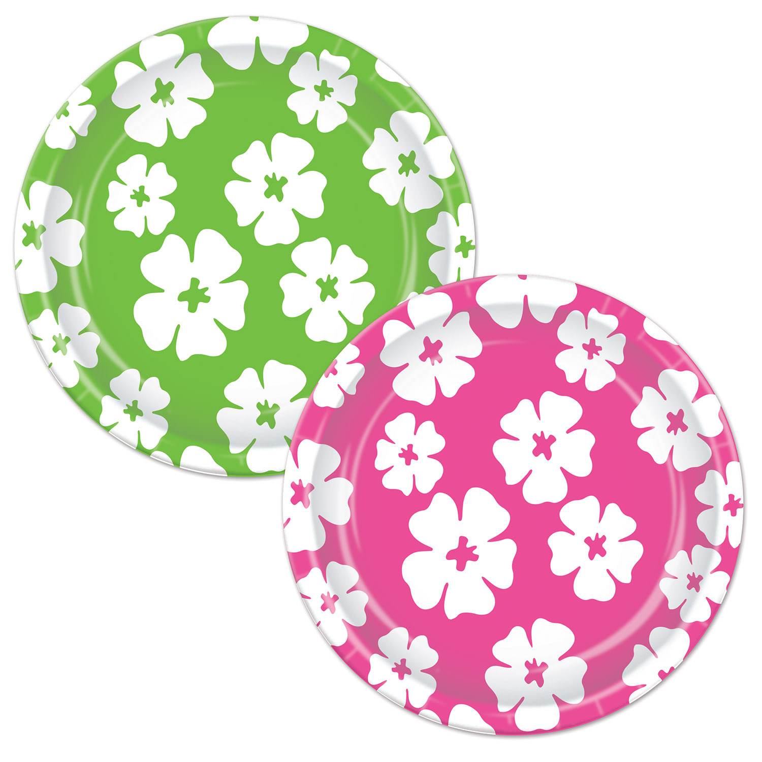 Hibiscus Plates (Pack of 96) paper, plates, hibiscus, luau, flower, tropical