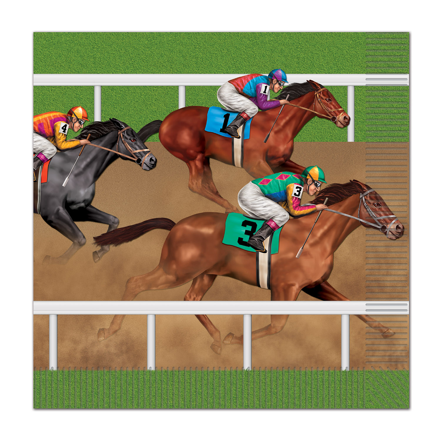 Horse Racing Luncheon Napkins (Pack of 192) Derby Day, Horse, horse racing, lunch, napkins, tableware, dinnerware