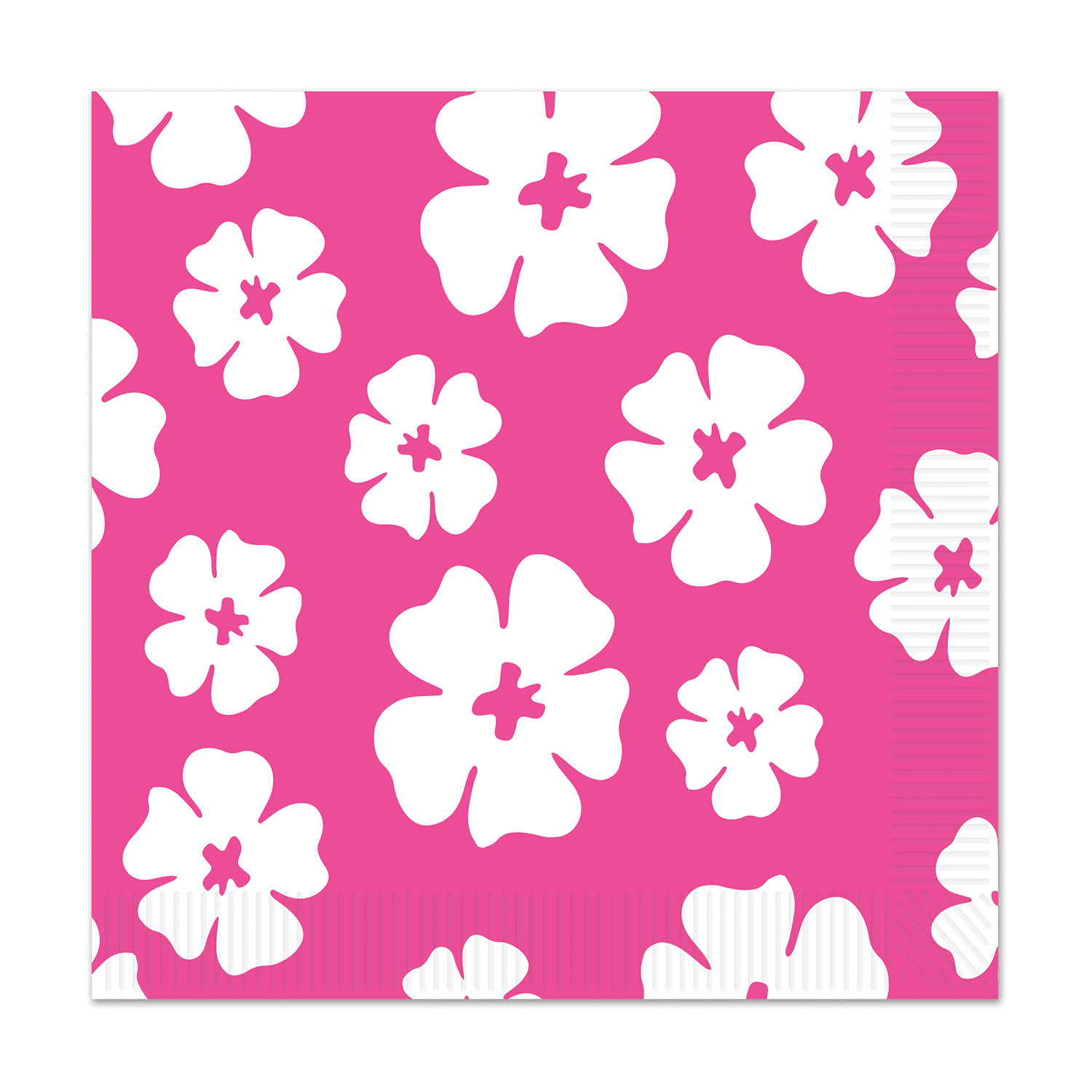 Hibiscus Beverage Napkins (Pack of 192) Hibiscus Beverage Napkins, decoration, luau, new years eve, wholesale, inexpensive, bulk
