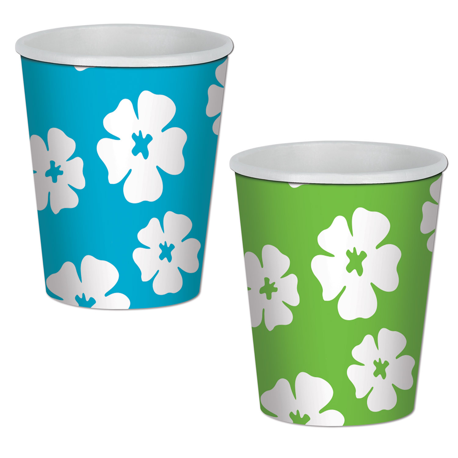 Hibiscus Beverage Cups (Pack of 96) luau, hawaiian, flowers, hibiscus, beverage, cups, drinks, tropical