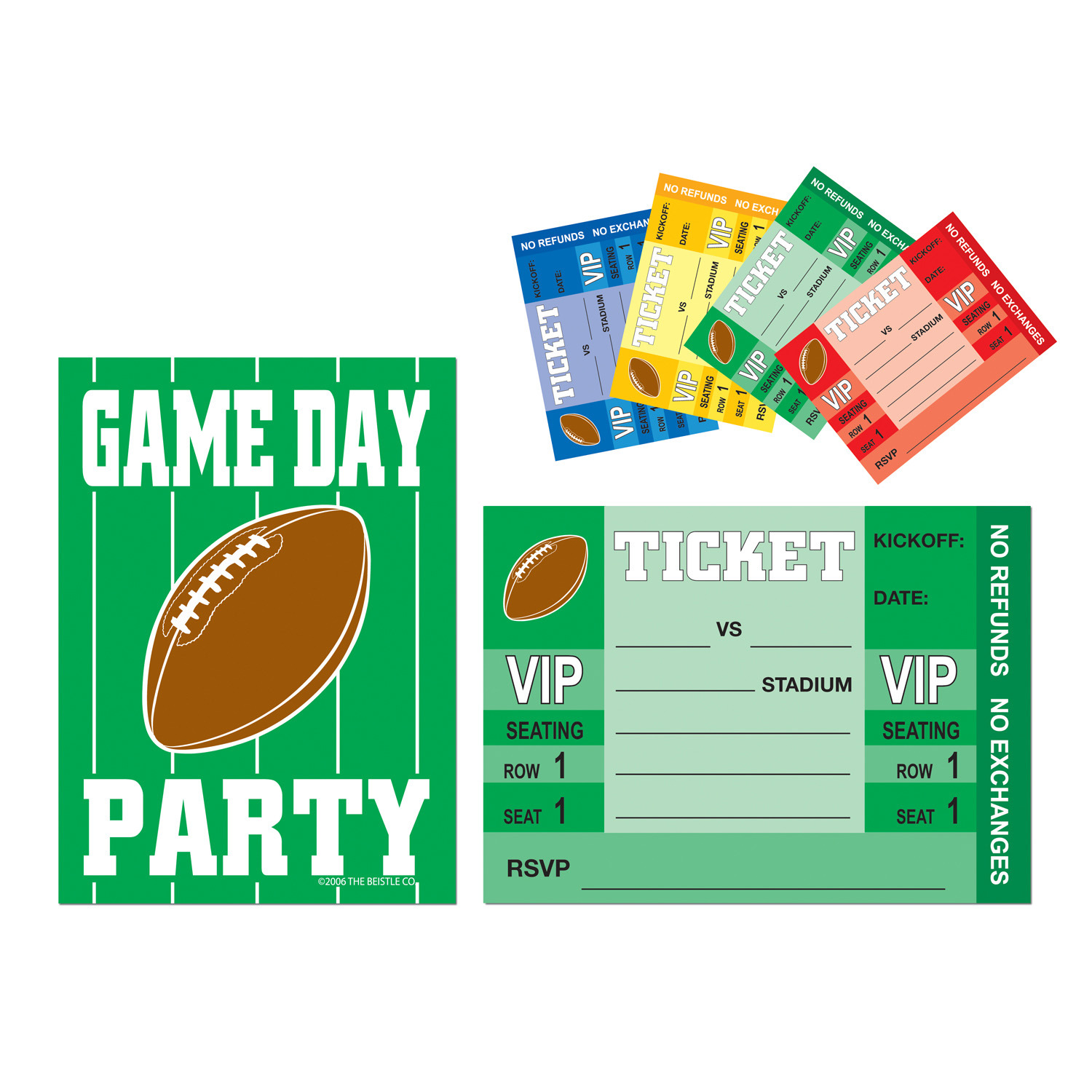 Game Day Football Invitations (Pack of 96) Game Day Football Invitations, football, superbowl, game day, wholesale, inexpensive, bulk