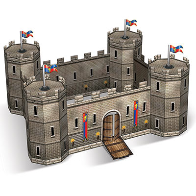 Centerpiece designed to replicate a medieval themed castle.