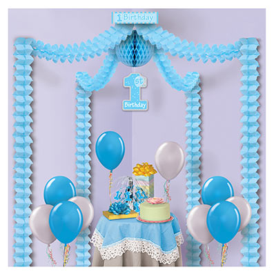 Decorating kit for little boys first birthday party.