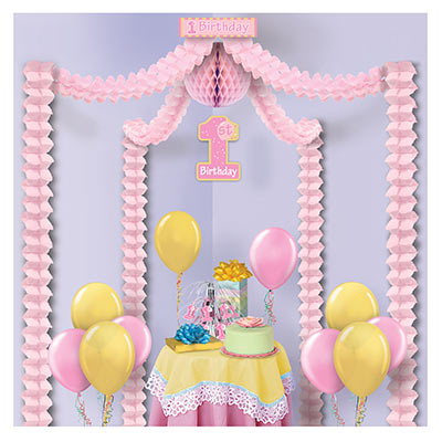Decorating kit for little girls first birthday party.