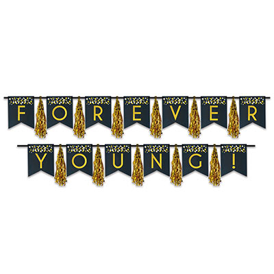 Forever Young! Tassel Streamer (Pack of 24) Forever Young, Tassel, Streamer, birthday, party, celebration, over the hill, happy birthday