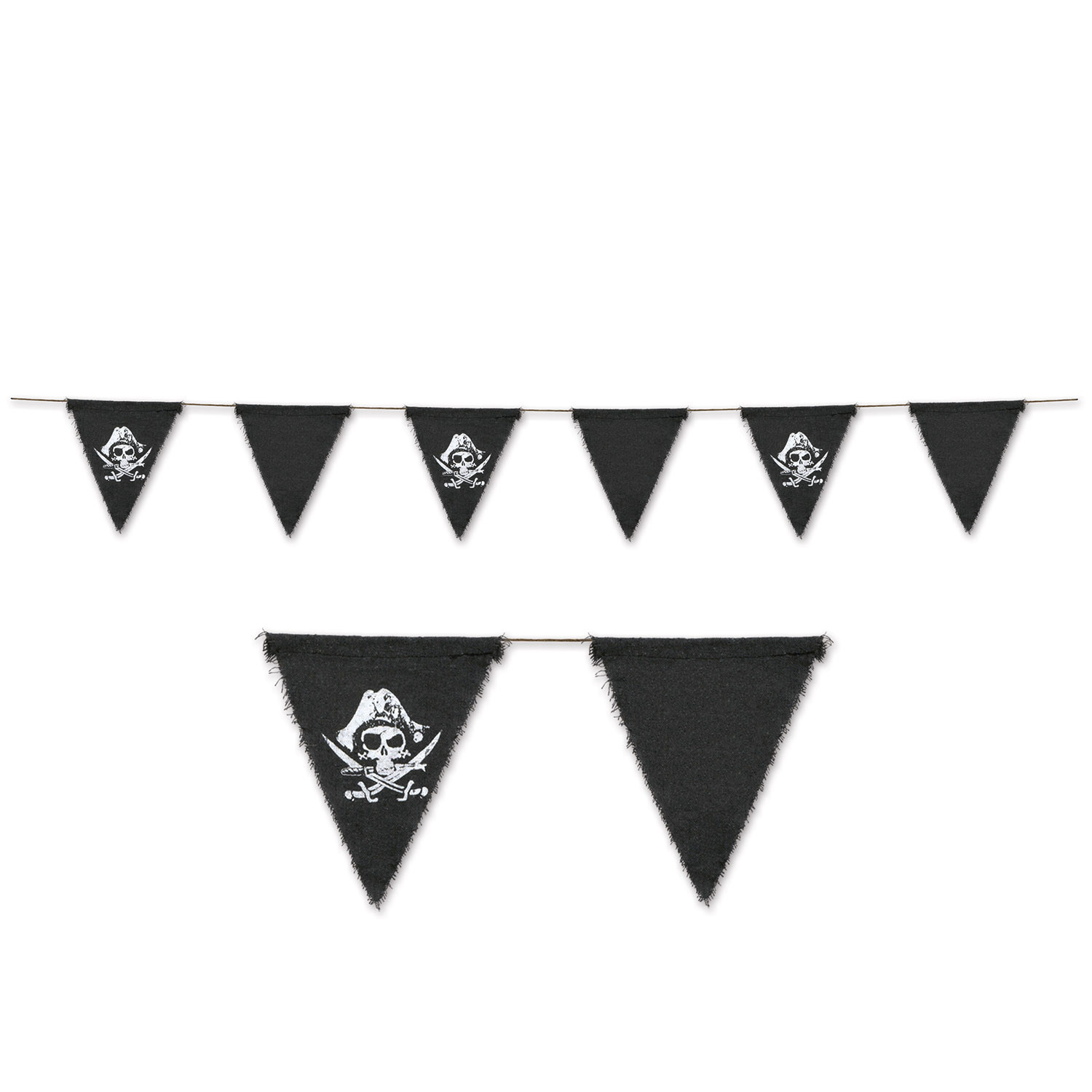 Pirate Fabric Pennant Banner (Pack of 12) Pirate Fabric Pennant Banner, pirate, new years eve, summer, decoration wholesale, inexpensive, bulk