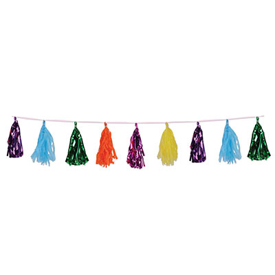 Metallic & Tissue Tassel Garland (Pack of 12)