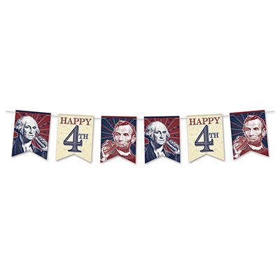 4th Of July Streamer (Pack of 12) president streamer, patriotic banner, patriotic streamer, 4th of July decor, 4th of july banner