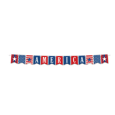 America Streamer (Pack of 12) America Streamer, July 4th, patriotic, decoration, wholesale, inexpensive, bulk