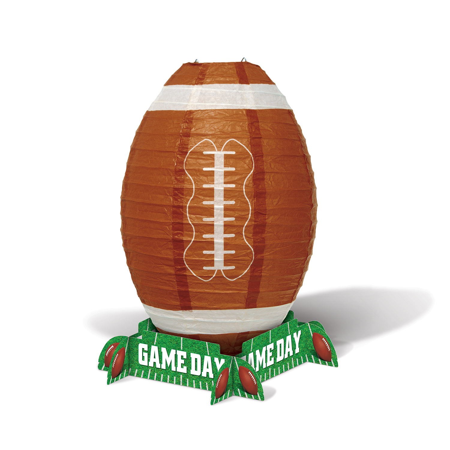Game Day Football Lantern Centerpiece (Pack of 12) sports, game day, lantern, football, centerpiece