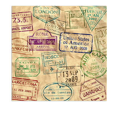 Around The World Luncheon Napkins (Pack of 192) international, around the world, travel, vacation, lunch, napkins