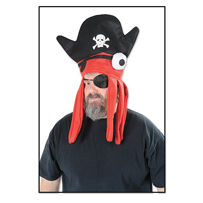 Pirate Squid Hat (Pack of 12) Pirate Squid Hat, party favor, pirate, wearable, wholesale, inexpensive, hat, bulk